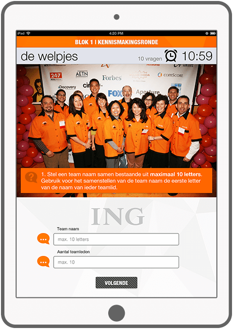 Function Een goed begin is het halve werk! - ING Marketingdag app