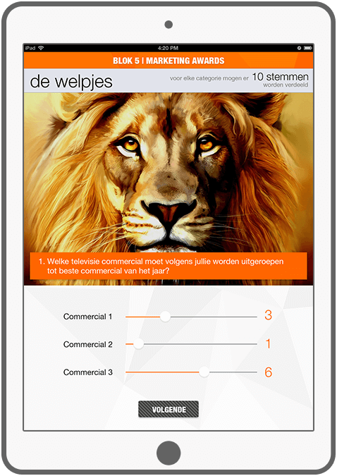 Function Marketing awards - ING Marketingdag app