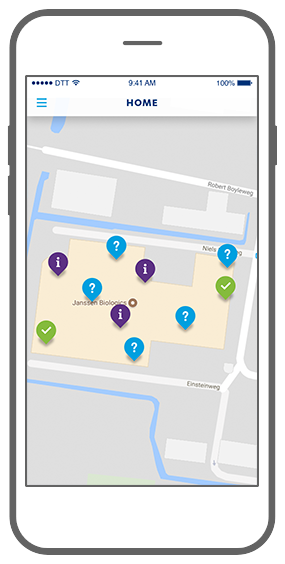 Function Mapview - Janssen Biologics e-learning app