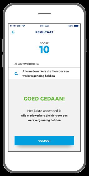 Function Trivia questions: result - Janssen Biologics e-learning app