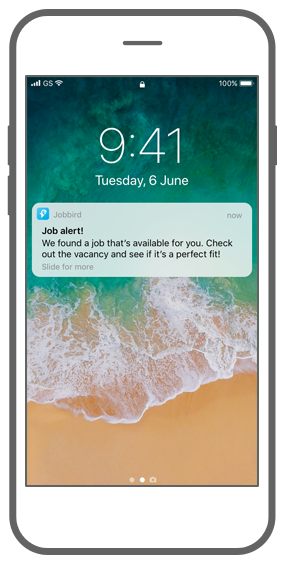 Function Push notifications - Jobbird app