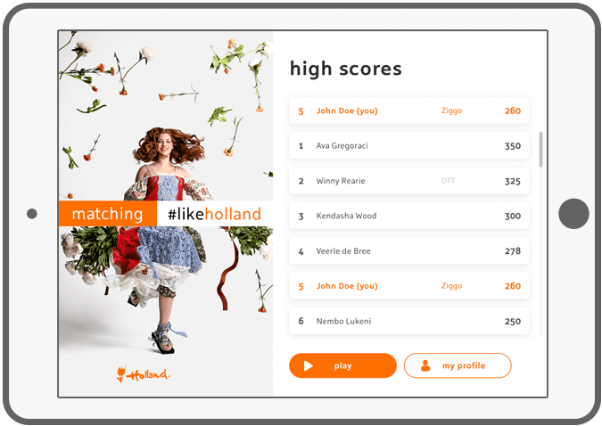 Function High scores - Holland Play en Match app