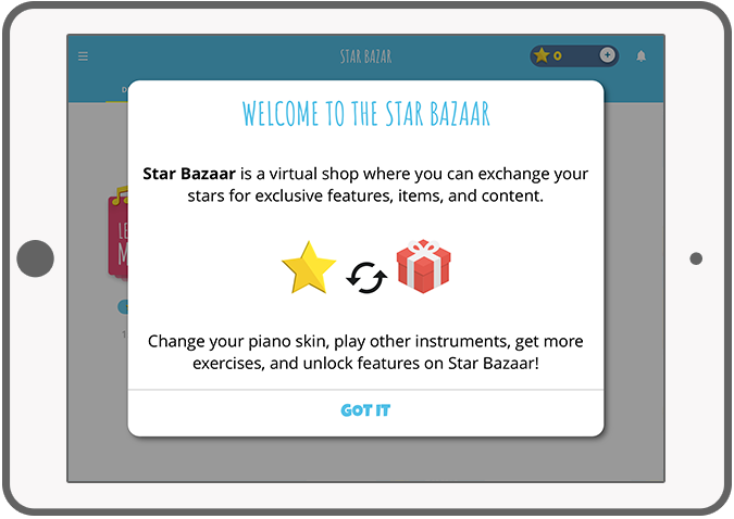 Function The bazaar - Ditto piano music app