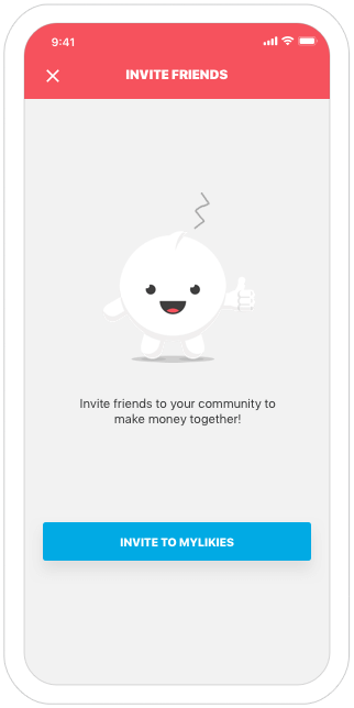 Function Invite friends - MyLikies
