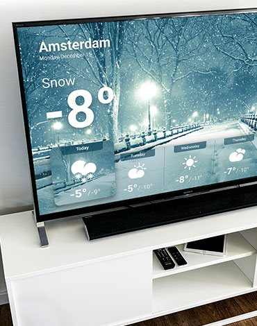 Philips Android TV weather app - DTT apps