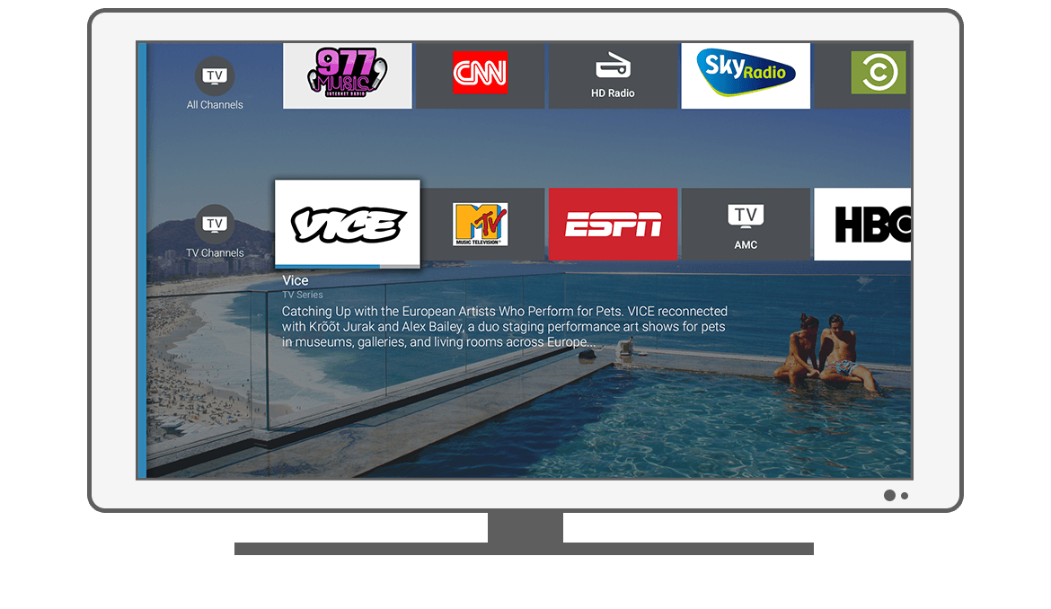 Function TV Channels - Philips Android TV launcher app