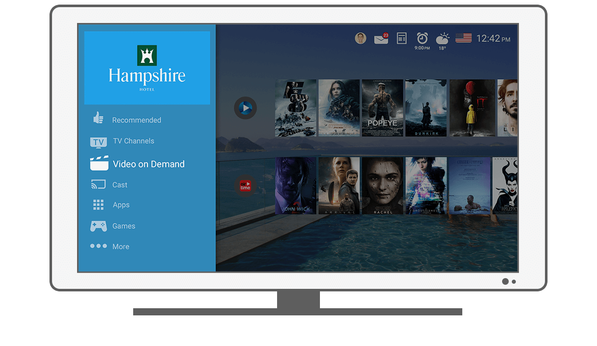 Function Menu - Video on Demand - Philips Android TV launcher app