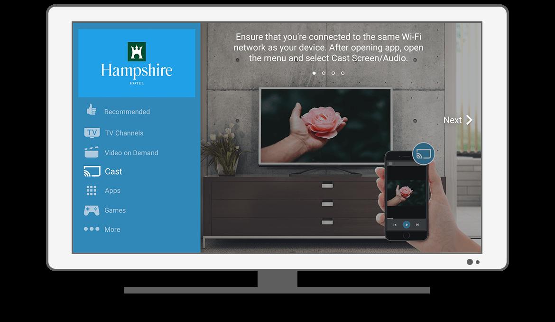 Function Menu - Cast - Philips Android TV launcher app