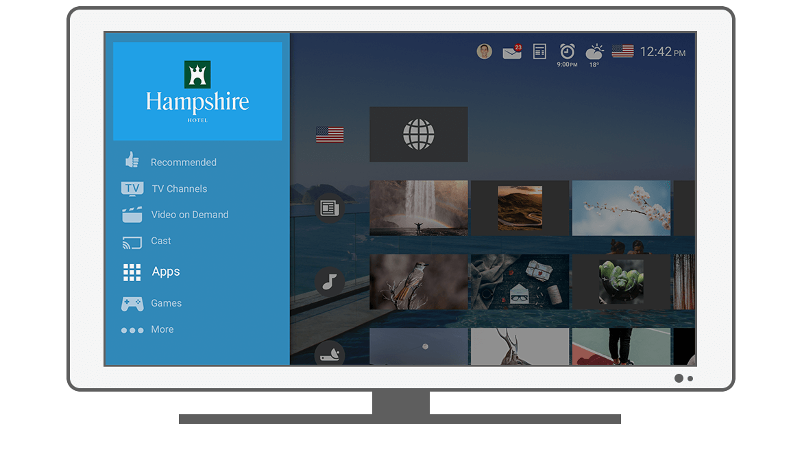 Function Menu - Apps - Philips Android TV launcher app
