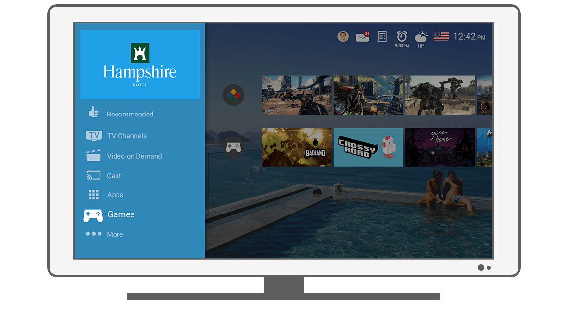 Function Menu - Games - Philips Android TV launcher app