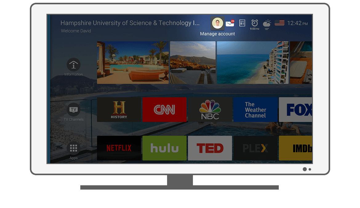 Function Manage account - Philips Android TV launcher app