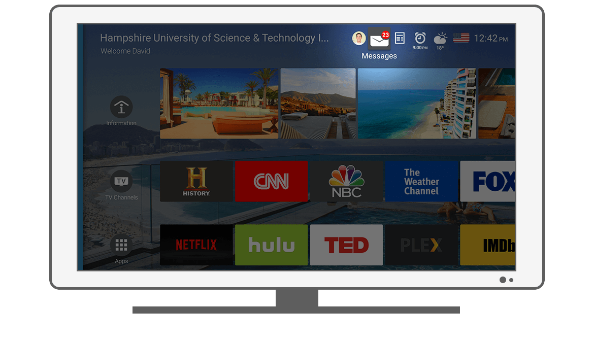 Function Messages - Philips Android TV launcher app