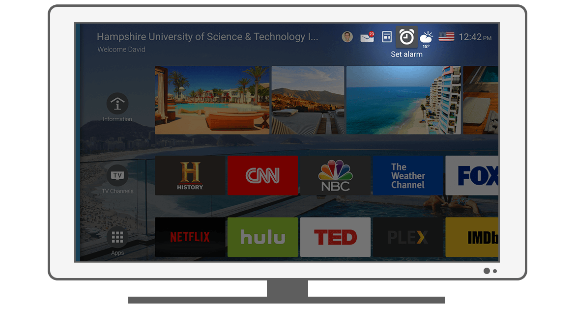 Function Set alarm - Philips Android TV launcher app