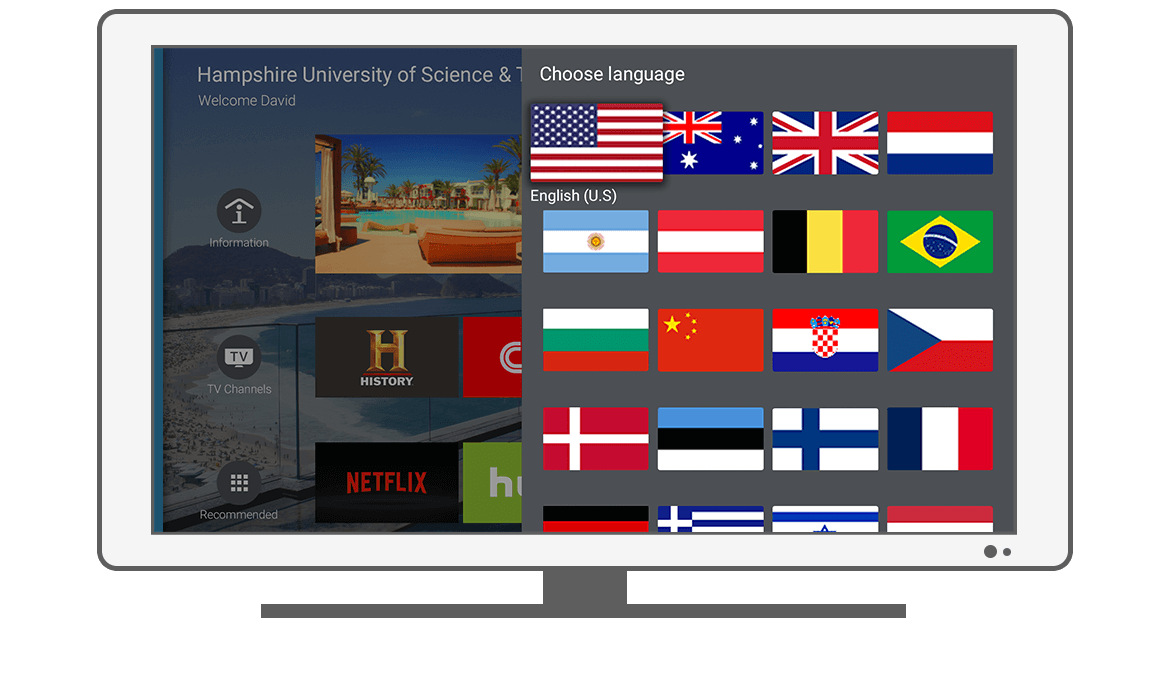 Function Choose language - Philips Android TV launcher app