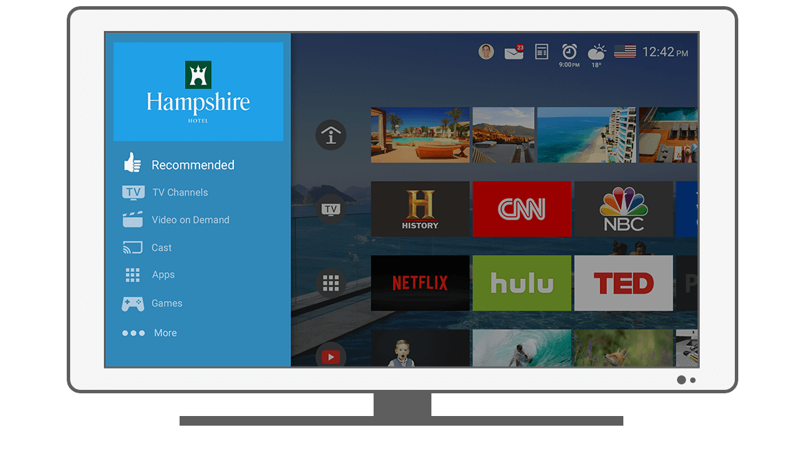 Function Menu - Recommended - Philips Android TV launcher app