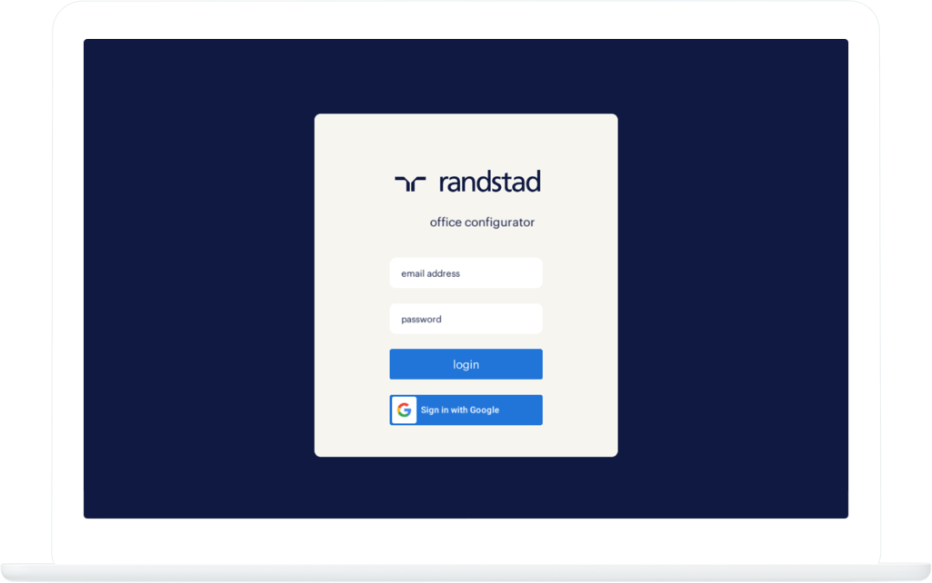 Function Login - Randstad Office Configurator