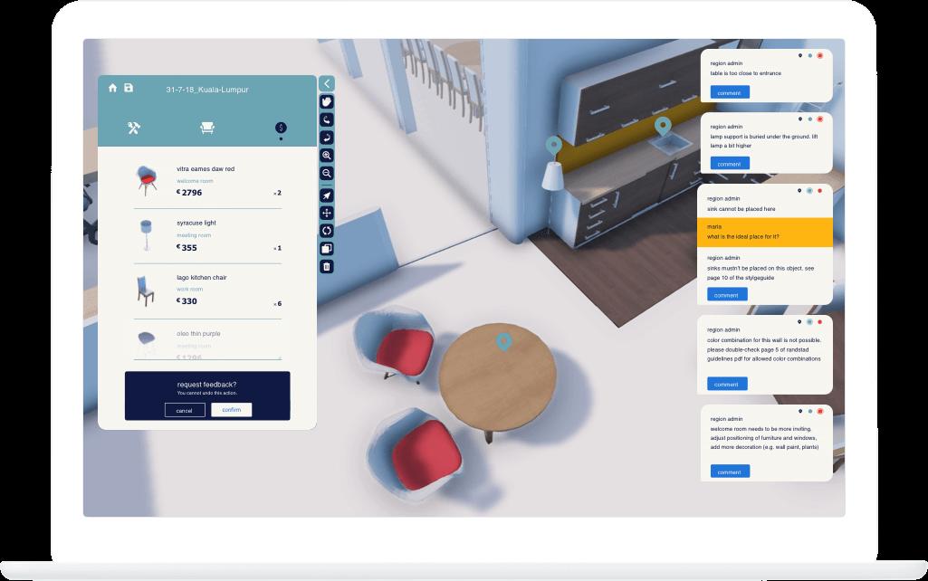 Function Overview - Randstad Office Configurator