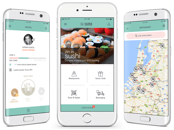 Sumo loyalty app overzicht