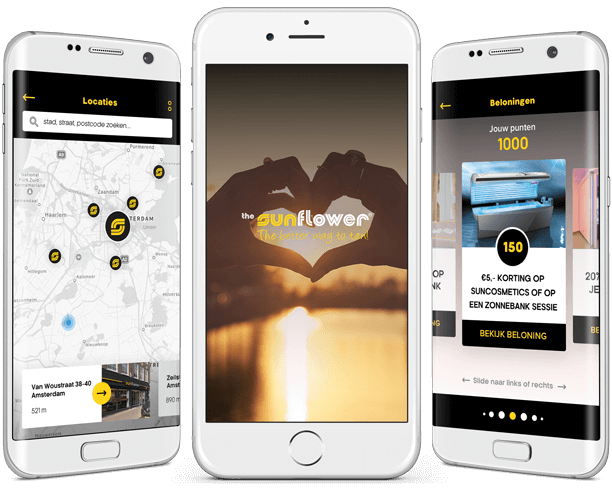 Sunflower loyalty app overzicht