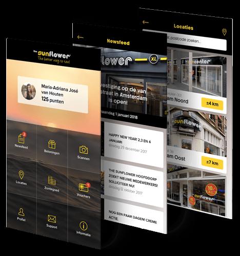 Sunflower Loyalty app beschrijving