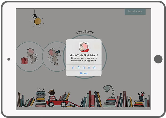 Function Give a review - Thuis bij Muis reading app