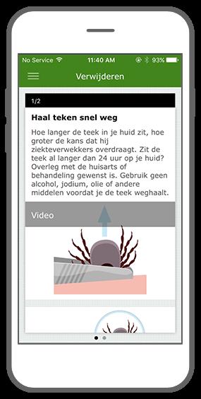 Function Remove the tick - RIVM Tick bite awareness app