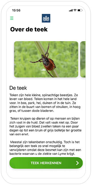 Function The tick - RIVM Tick bite awareness app