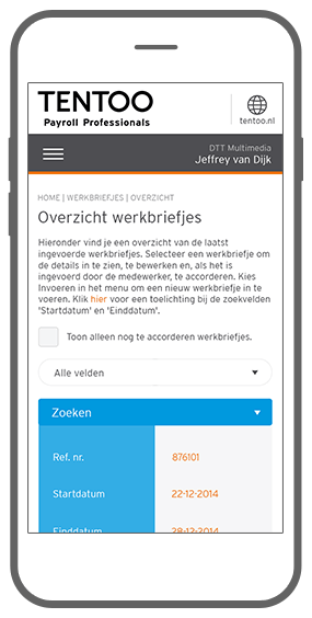 Function Functioneel design en kleurgebruik - My Tentoo adaptive webdesign