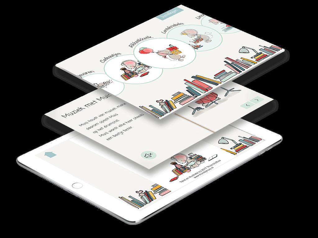 Thuis bij Muis reading app beschrijving