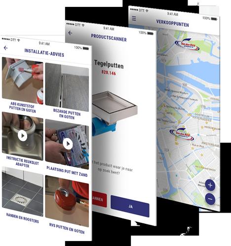 Van den Berg product information app beschrijving