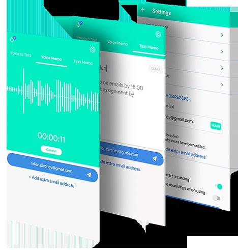 VoNo Voice Note to Mail app beschrijving