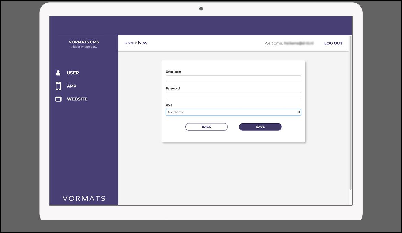 Function New user - Vormats