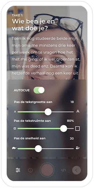 Function Video settings - Vormats