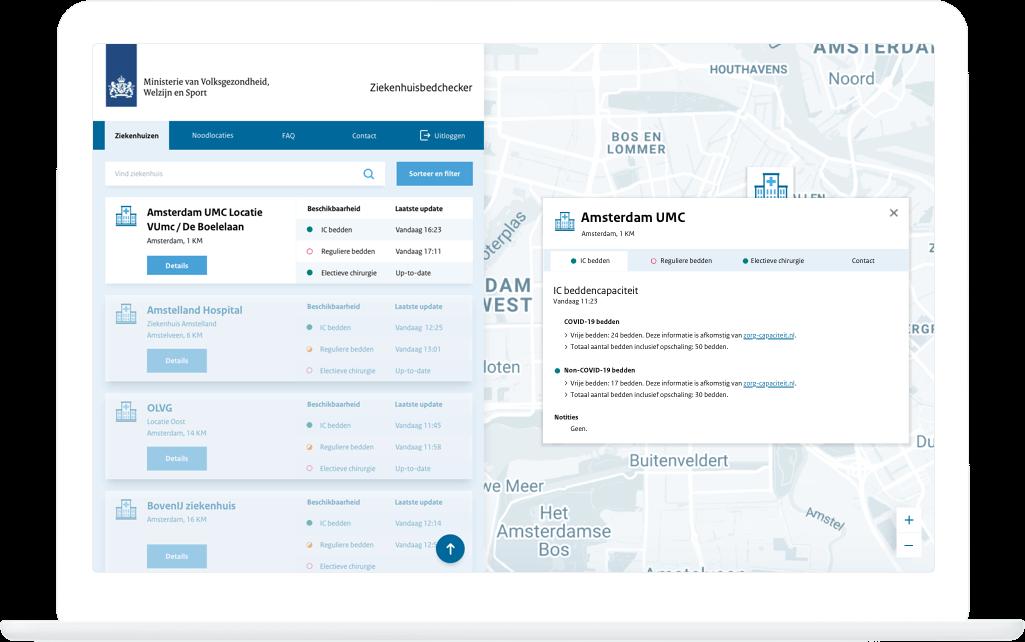 Function Hospital details - Ziekenhuisbedchecker