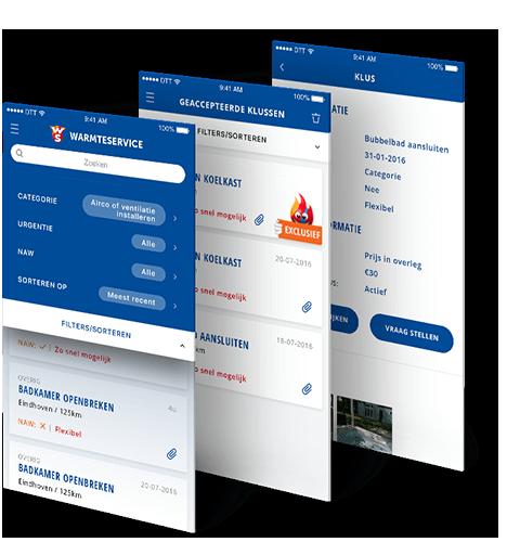 Kluscontact job platform app  beschrijving