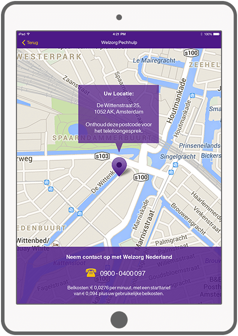 Function Determine your location - Welzorg Breakdown Assistance app