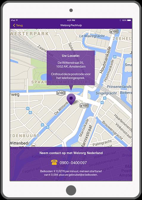 Function Determine your location - Welzorg Breakdown Assistance app