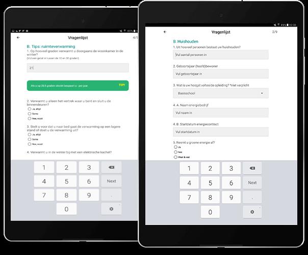 Wooninfo sustainable living app overzicht