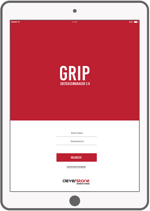 Function Log in - GRIP vastgoed manager app