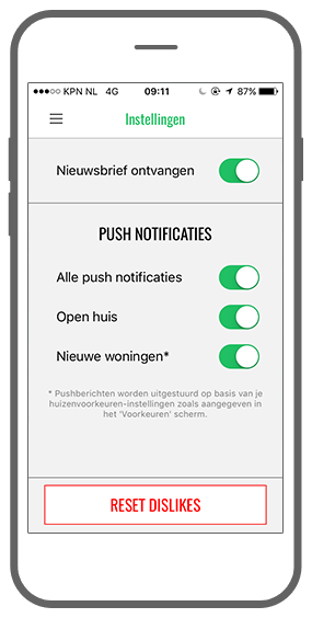 Function Push notificaties - Blokster app