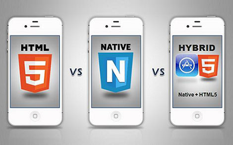 Het verschil tussen native apps hybride apps en html5 for Idee application web