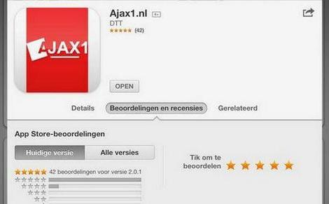 Ajax1 app update is available