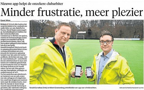 Refcom4all groot in Haarlems Dagblad - DTT DTT app in Adweek