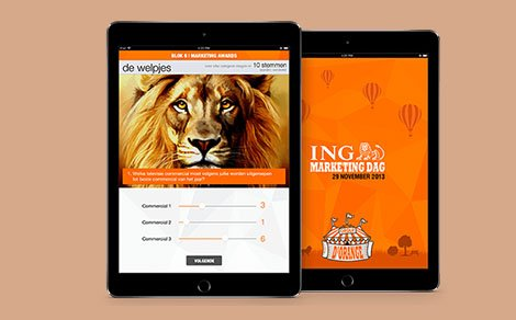 Successful launch of ING Marketingday app