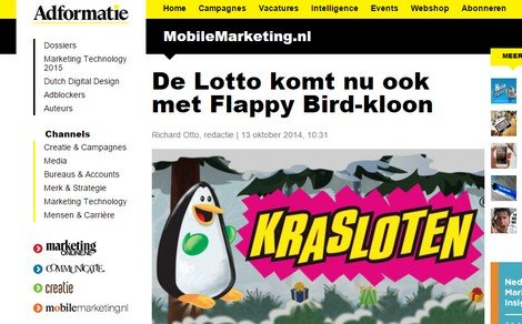 Krasloten Game on Adformatie - DTT blog