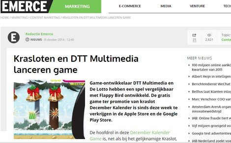 The Krasloten December Calendar Game on Emerce.nl - DTT blog