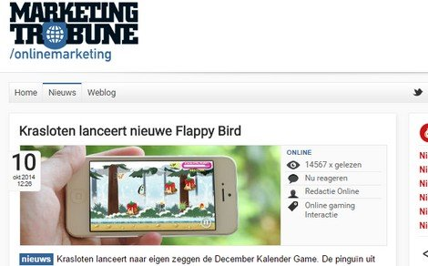 December Kalender op MarketingTribune - DTT blog