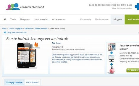 Scoupy very positively received by the Consumer Association! - DTT blog