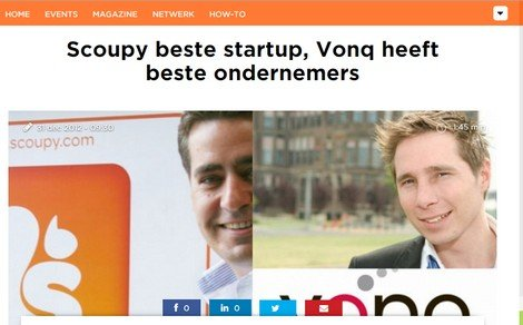 Scoupy chosen the best startup of 2012!