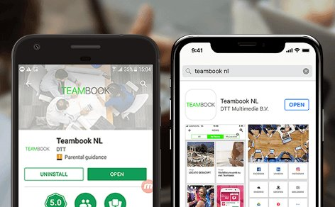 Teambook intranet app nu in de app stores